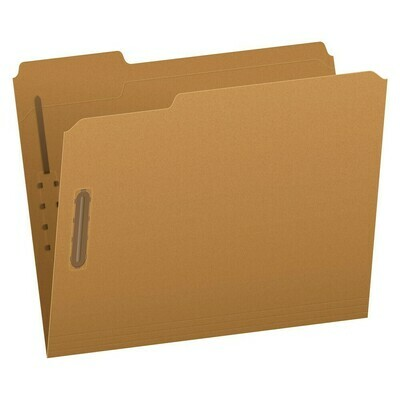 Pendaflex / Kraft Fastener Folders, Letter Size, 2 Fasteners, 1/3 Cut, 50/BX