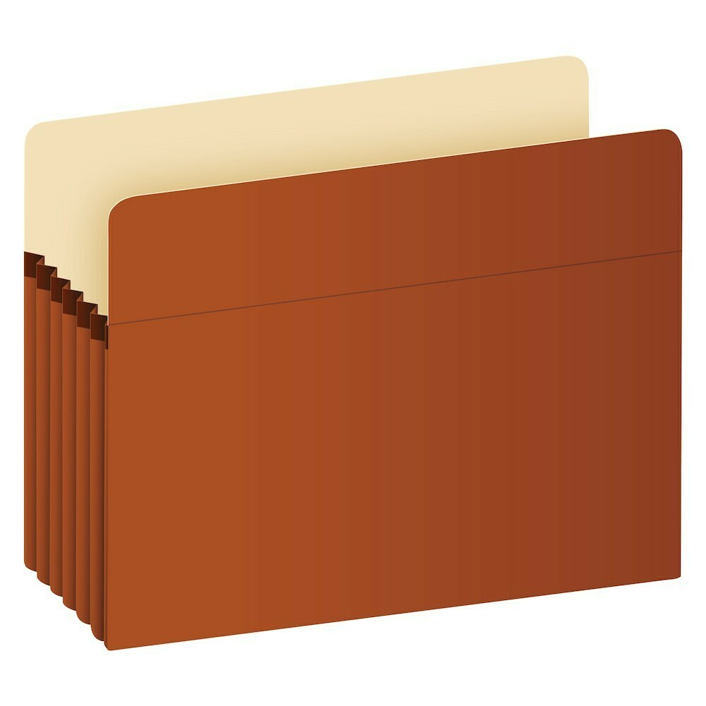 "Pendaflex / Recycled File Pockets, Legal Size, Red Fiber, 5.25"" Expansion"