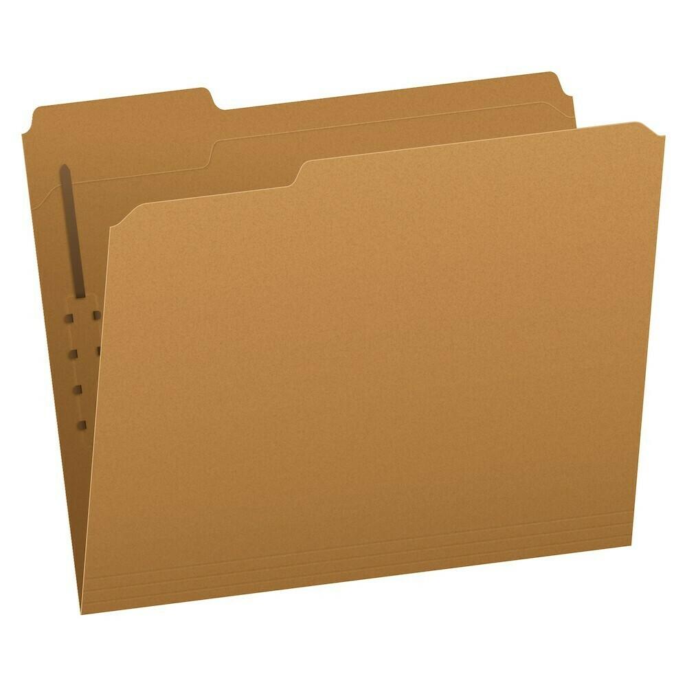 Pendaflex / Kraft Fastener Folders, Letter Size, 1 Fastener, 1/3 Cut, 50/BX