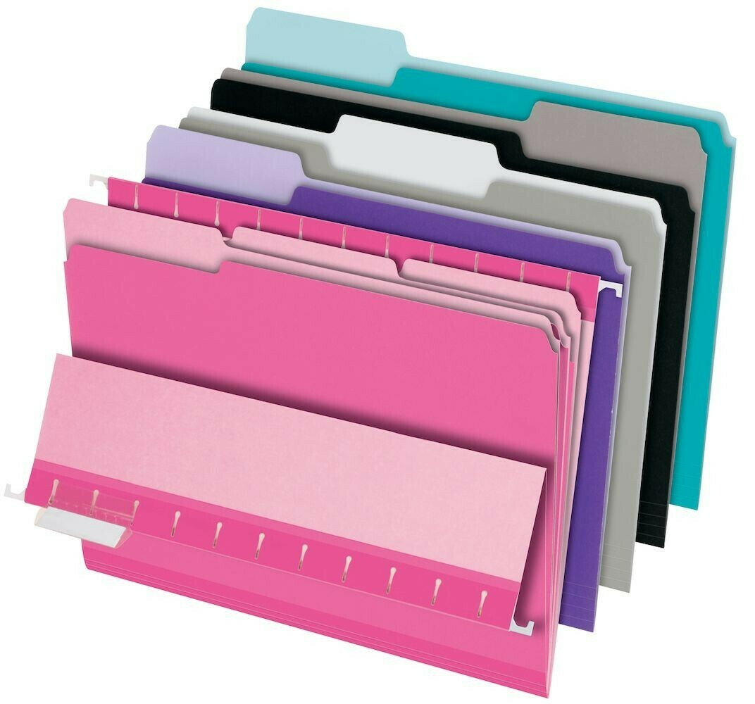 Pendaflex / File Folders, Letter Size, Assorted Colors