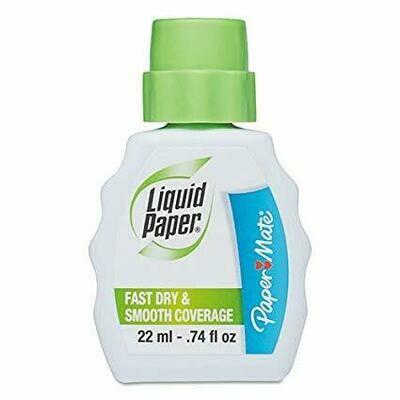 Paper Mate / Fast Dry Correction Fluid, 22 ml Bottle, White, 1/Dozen