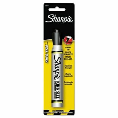 Sharpie / King Size Permanent Marker, Broad Chisel Tip, Black