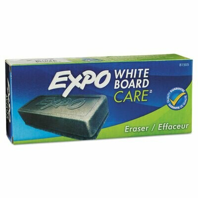Expo / Dry Erase Eraser, Soft Pile, 5 1/8w x 1 1/4h