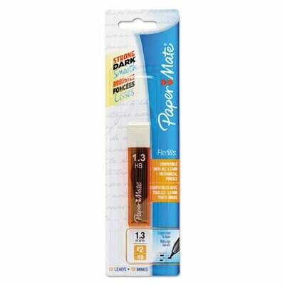 Paper Mate / Lead Refills, 1.3 mm, HB, Gray, 12/Tube