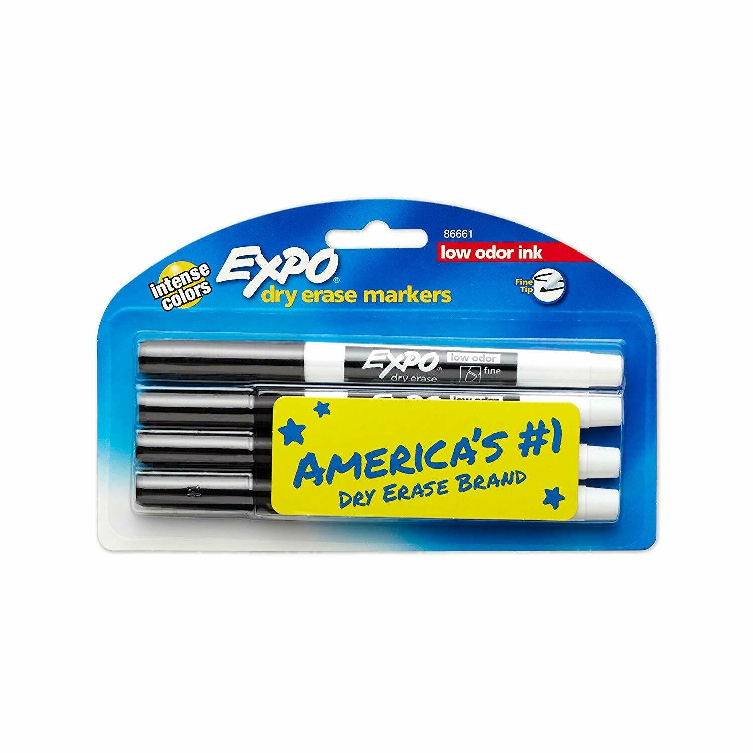 Expo / Low-Odor Dry Erase Markers, Fine Point, Black