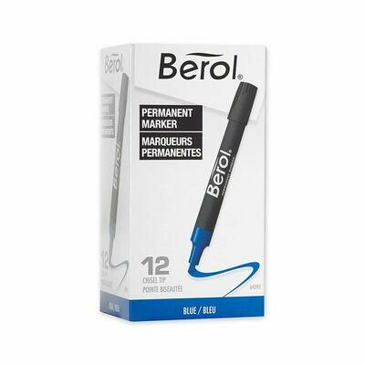 Berol / Permanent Marker, Chisel, Blue, Boxed
