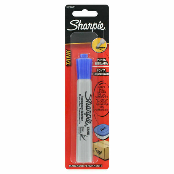 Sharpie / Marker, Tank, Chisel Tip, Blue