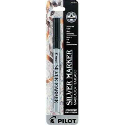 Pilot / Silver Metallic Permanent Paint Marker, Extra Fine Point