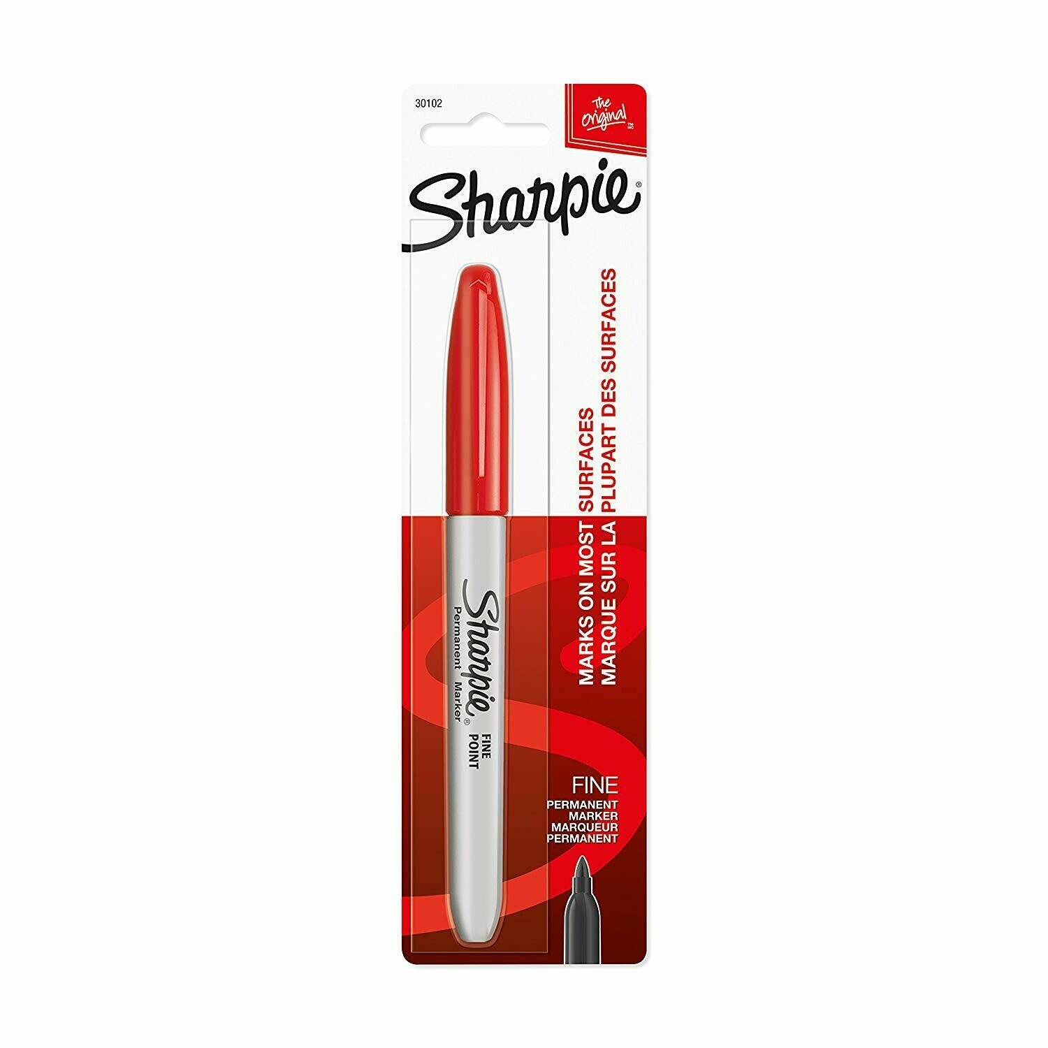 Sharpie / Fine Point Permanent Marker, Red Color, Pack of 1