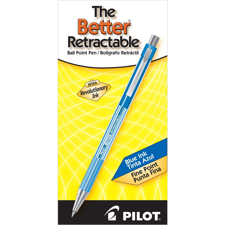 Pilot/ Better Retractable Ballpoint Pen, Blue , Fine Point