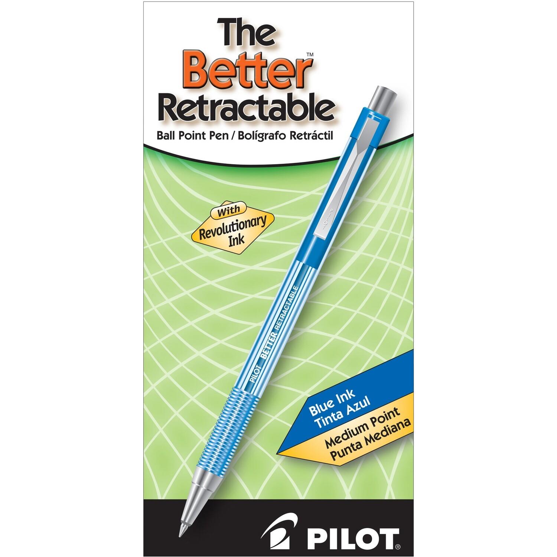 Pilot/ Better Retractable Ballpoint Pen, Blue , Medium Point