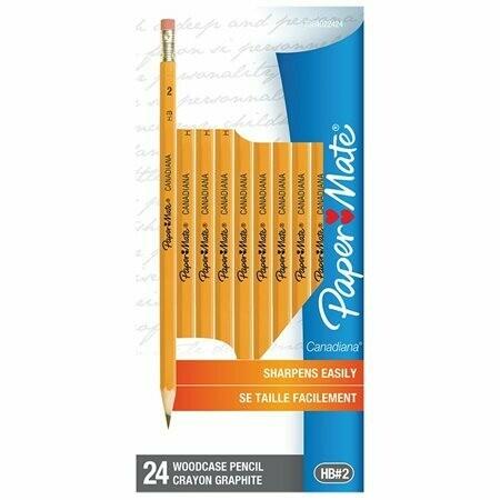 Paper Mate / Wood Pencil HB#2, Canadian, [Pk-24]