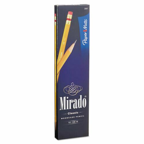 Paper Mate / Mirado Pencil, HB (#2), Black Lead, Yellow Barrel, Dozen