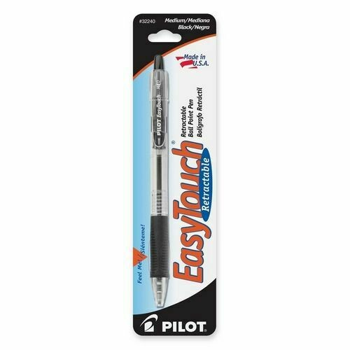 Pilot / EasyTouch Retractable Ballpoint Pen, Medium, Black, Pk-1
