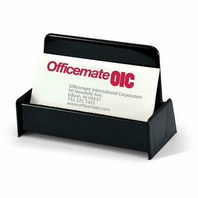 Officemate / Business Card Holder, Holds Up to 50 Cards, Black