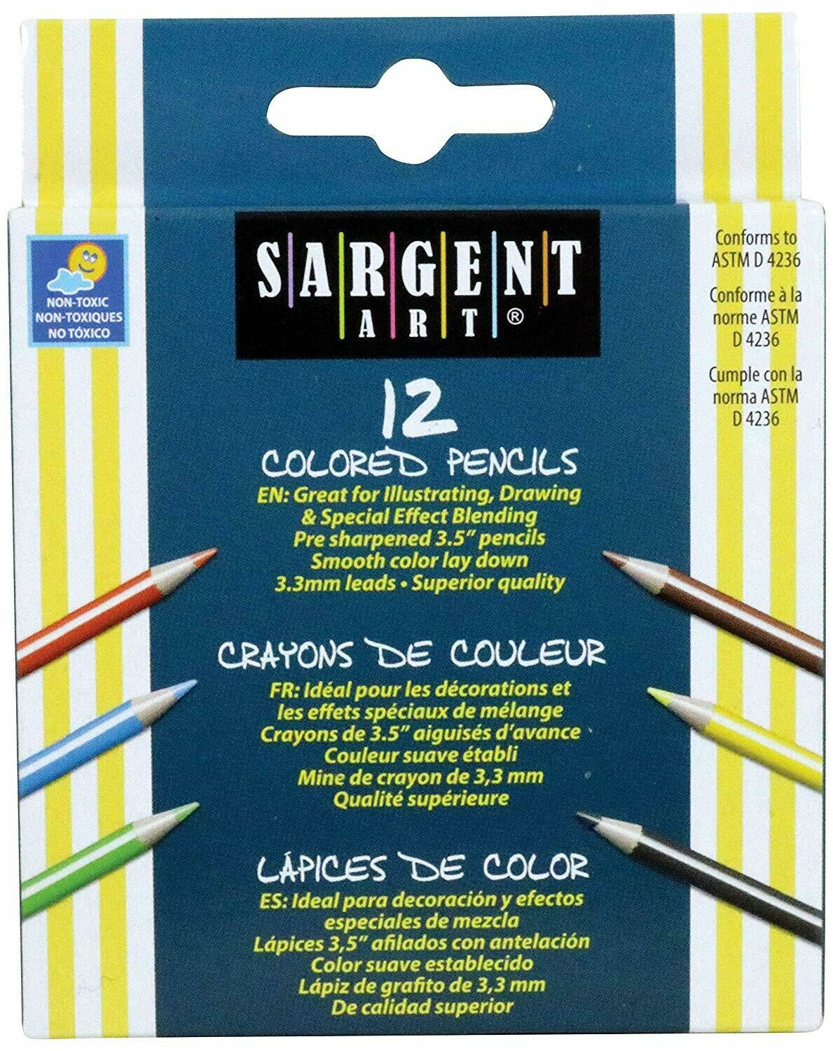 Sargent Art / Half Sized Colored Pencils Set, Pk-12