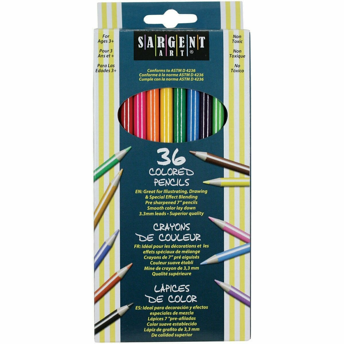Sargent Art / Colored Pencils, Assorted, 7.0 Inches, Pk-36