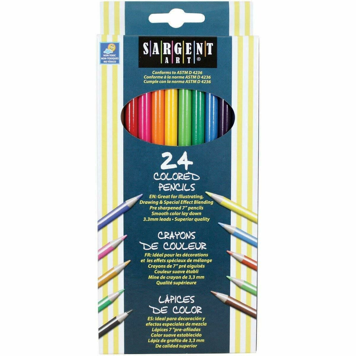 Sargent Art / Colored Pencils, Assorted, 7 Inches, Pk-24