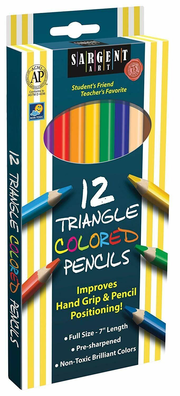 Sargent Art / Triangle Colored Pencils, Pk-12