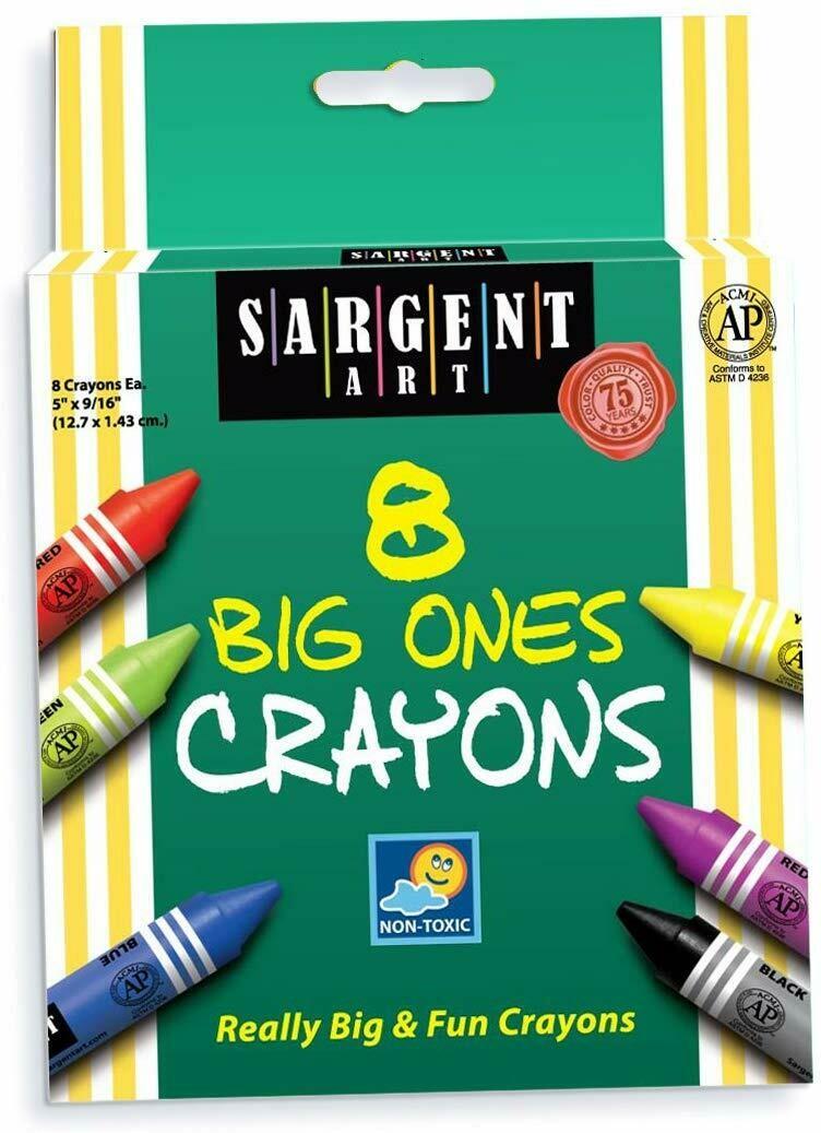 Sargent Art / Crayons 8 Big Ones