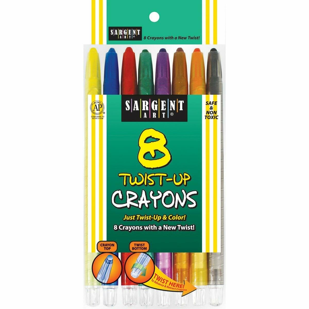 Sargent Art / Count Twist-Up Color-Crayons, Pk-8