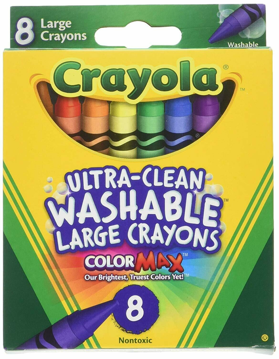 Crayola / Washable Crayons 8 Colors, Large