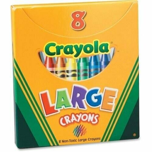 Crayola / Crayons 8 Colors, Large