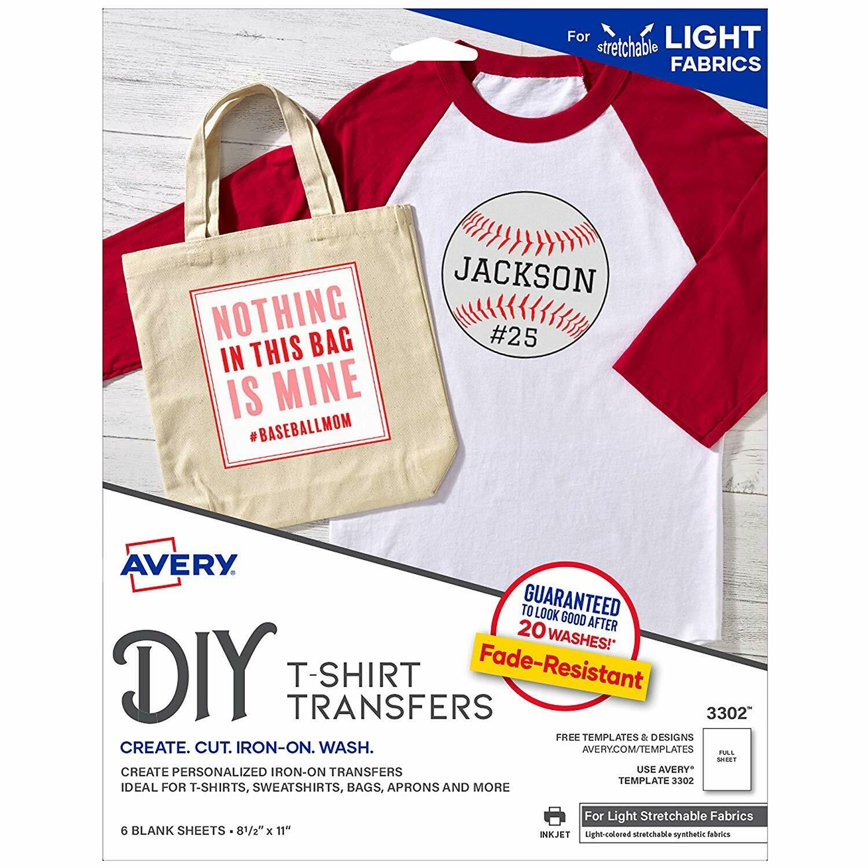 Avery /  InkJet Stretchable Transfer Sheets, Pk-5