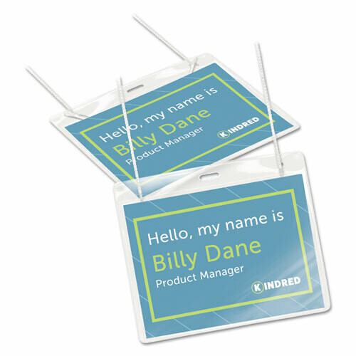 Avery / Necklace-Style Badge Holder w/Laser/Inkjet Insert, Top Load, 4 x 3, WE, 100/Box