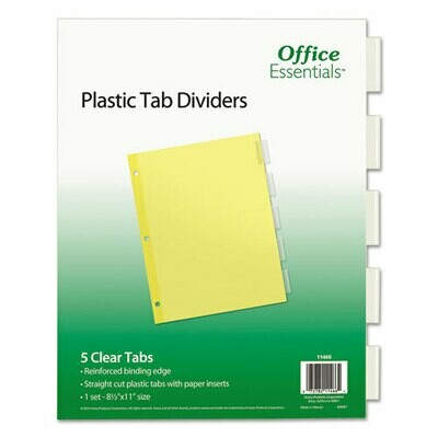 Avery / Plastic Insertable Dividers, 5-Tab, Letter
