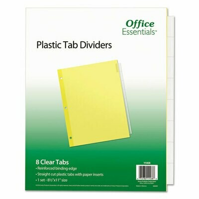 Avery / Plastic Insertable Dividers, 8-Tab, Letter