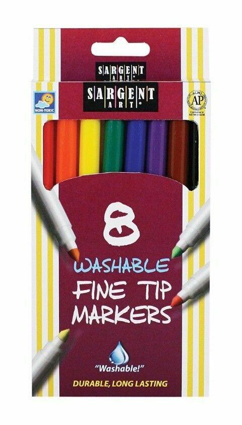 Sargent Art / 8-Count Markers Washable Fine Tip
