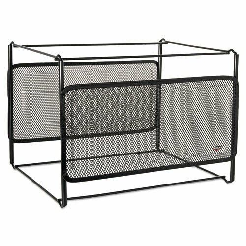 Rolodex / Letter Size Mesh File Frame Holder, Wire, 12 3/8 x 11 3/8 x 9 5/8, Black