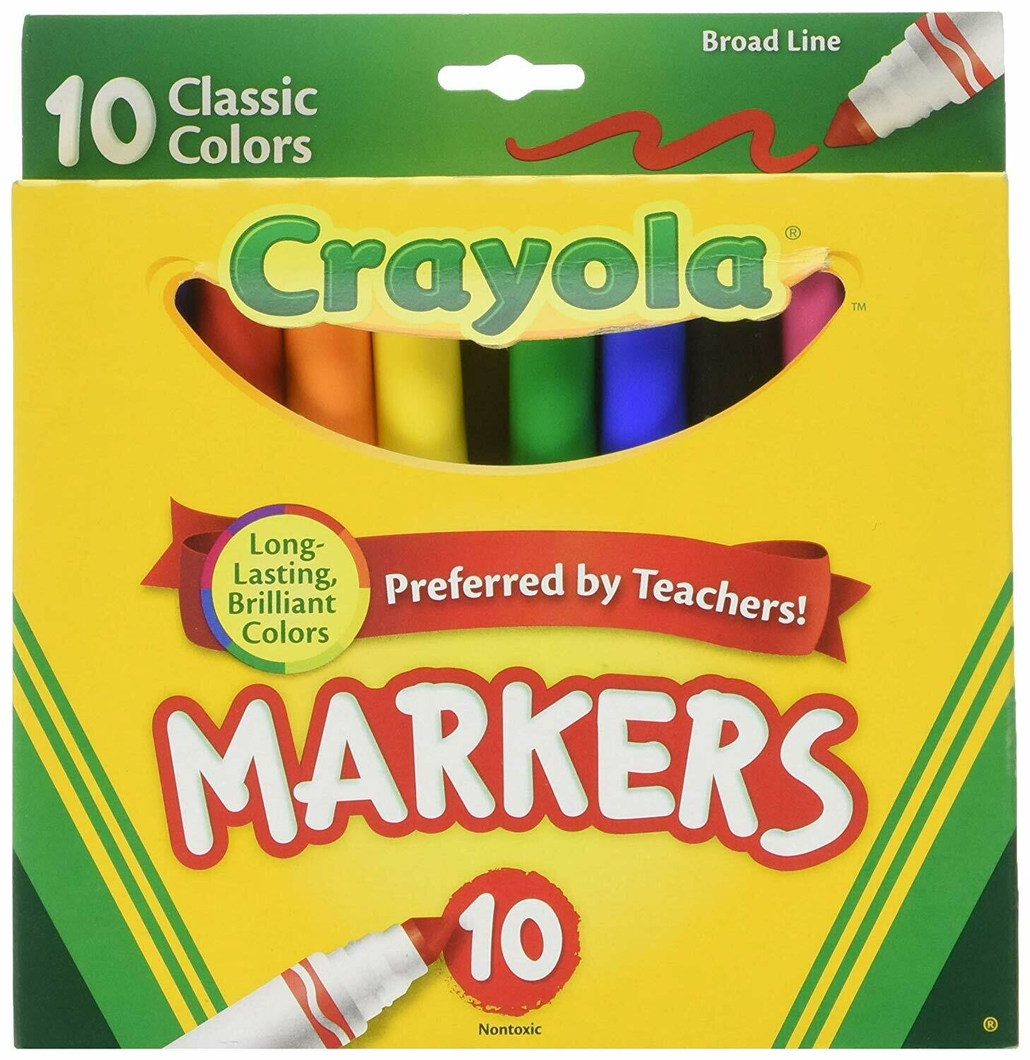 Crayola / Classic Color Broad Line Markers, Pk-10