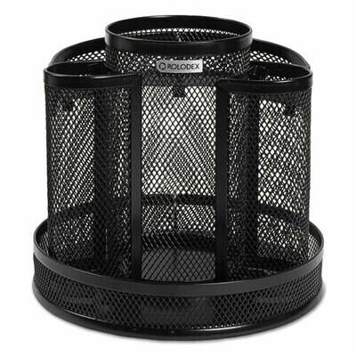 Rolodex / Wire Mesh Spinning Desk Sorter, Black