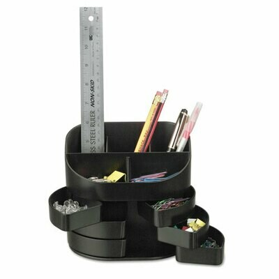 Officemate / Double Supply Organizer, 11-Compartment, 6 1/2w x 4 3/4d x 5 3/4h, Black