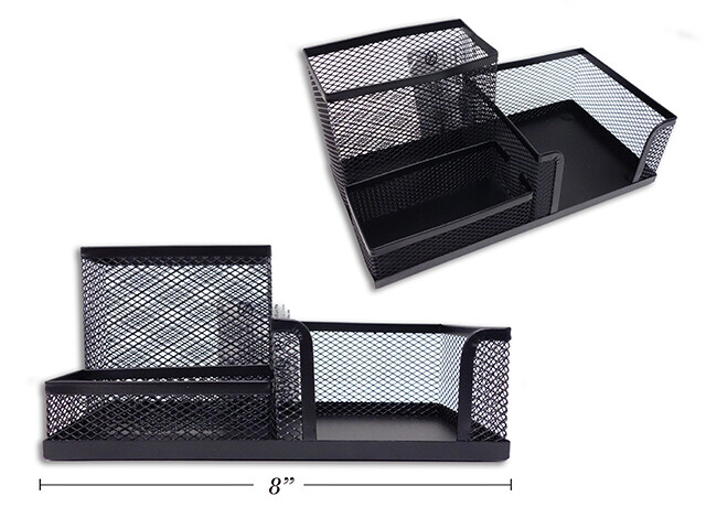 Metal Wire Desk Tray Black