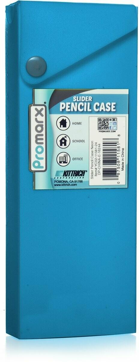 Promarx / Assorted Color Slider Pencil Case