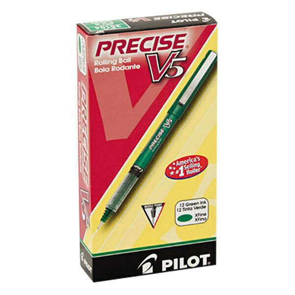 Pilot / Precise V5 Premium Rolling Ball, Extra Fine, Green, [Pk-12]