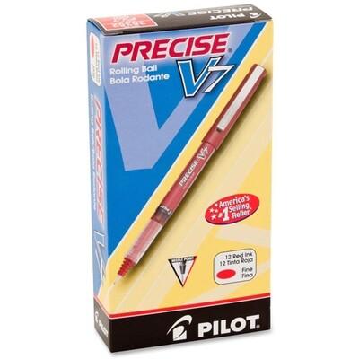 Pilot / Precise V7 Premium Rolling Ball, Fine, Red