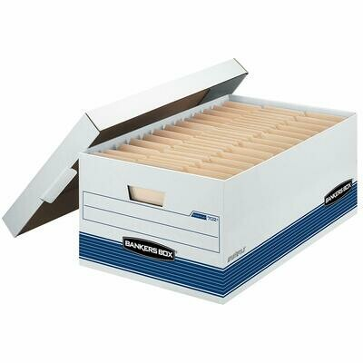 Bankers Box / Medium-Duty Storage Boxes, FastFold, Lift-Off Lid, Legal, Pk-12