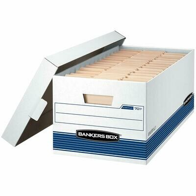 Bankers Box / Medium-Duty Storage Boxes, FastFold, Lift-Off Lid, Letter