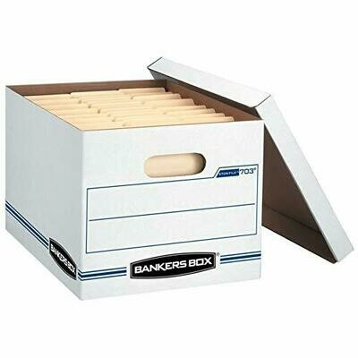 Bankers Box /Basic-Duty Storage & File Boxes w/ Lift-Off Lids, Letter