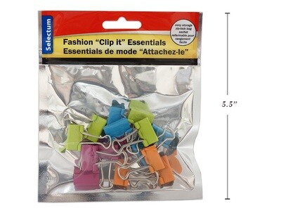 Link Products /  Binder Clips, Brite Fashion, Pk-15