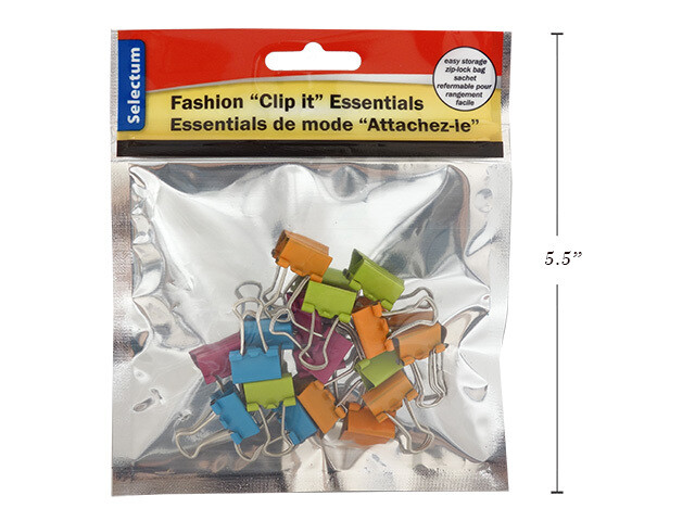 Link Products /Binder Clips, Brite Fashion, Pk-18