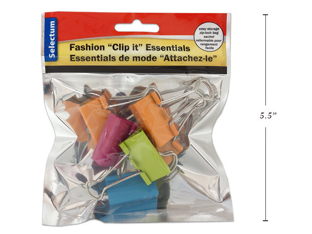 Link Product / Binders Clips, Brite Fashion, Pk-6