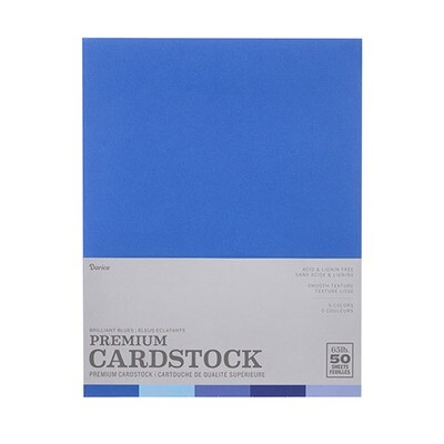 Darice / Cardstock Brilliant Blues, Pk-50