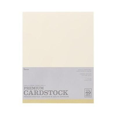 Darice / Cardstock Vanilla Cream (Ivory),  Pk-40