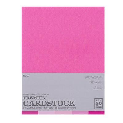 Darice / Cardstock Perfect Pink, Pk-50