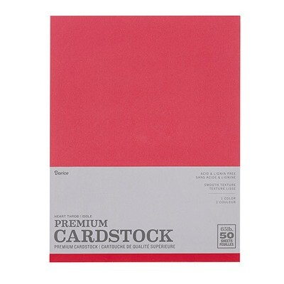 Darice / Cardstock Heart Throb (Red), Pk-50